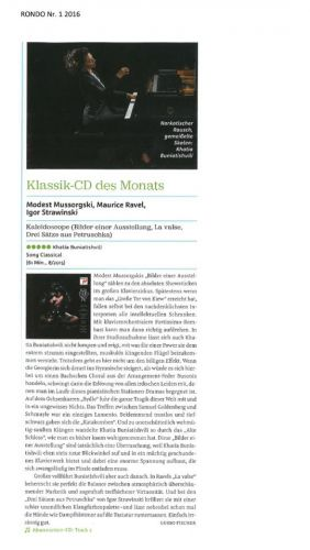 """Classical CD of the month"""